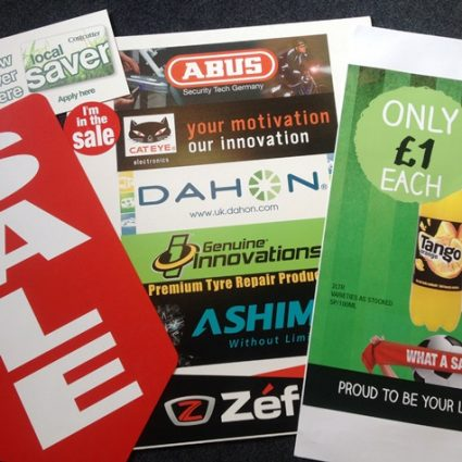 Printed Point of sale posters