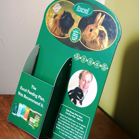 Printed leaflet holders