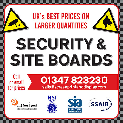 Security and site boards