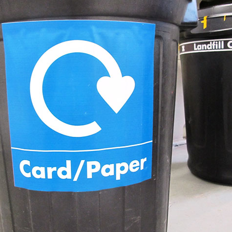Recycling stickers for bins
