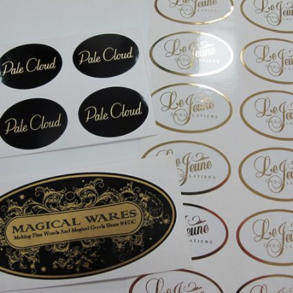 metallic stickers