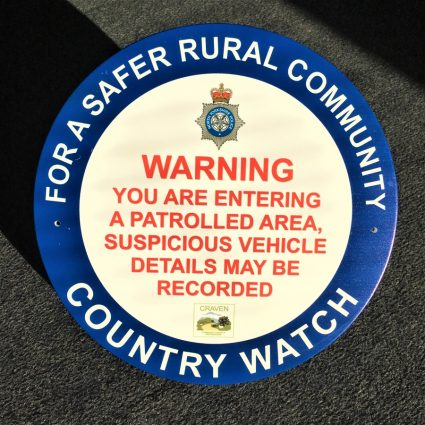 Custom printed warning sign
