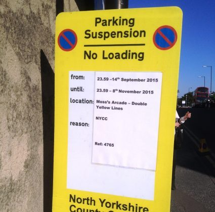 Parking Suspension signs