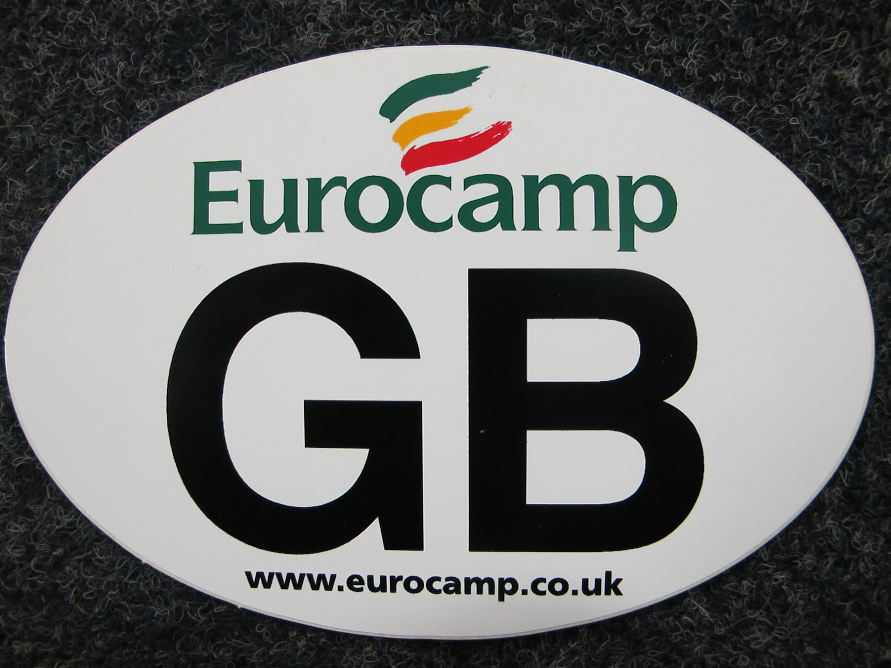 Printed GB sticker