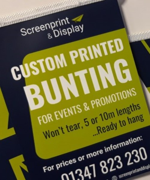 Custom printed Bunting flags for events and promotions