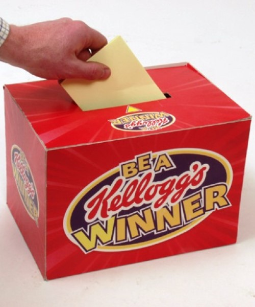 Printed Cardboard coupon collection box