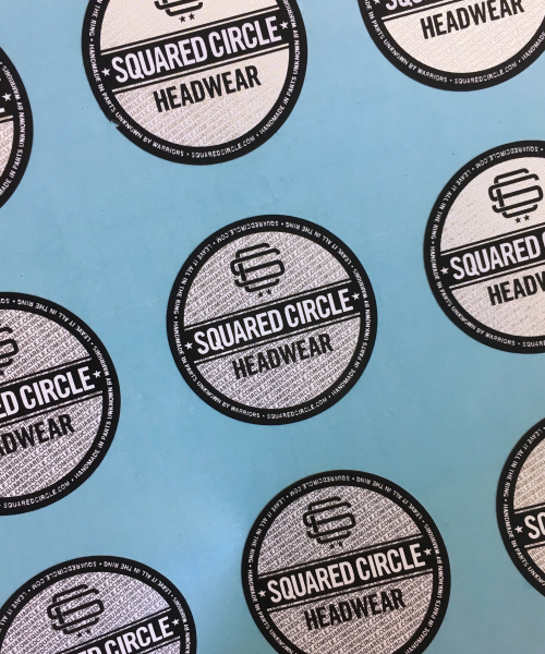 Silver printed stickers