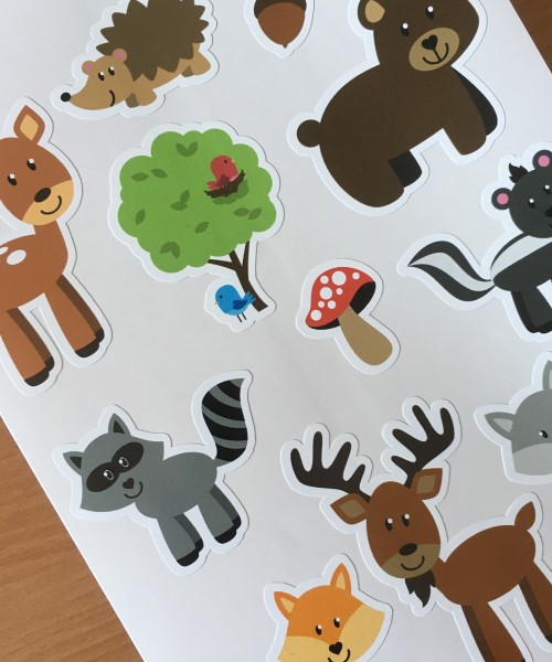 Printed stickers Vinyl Sticker sheets