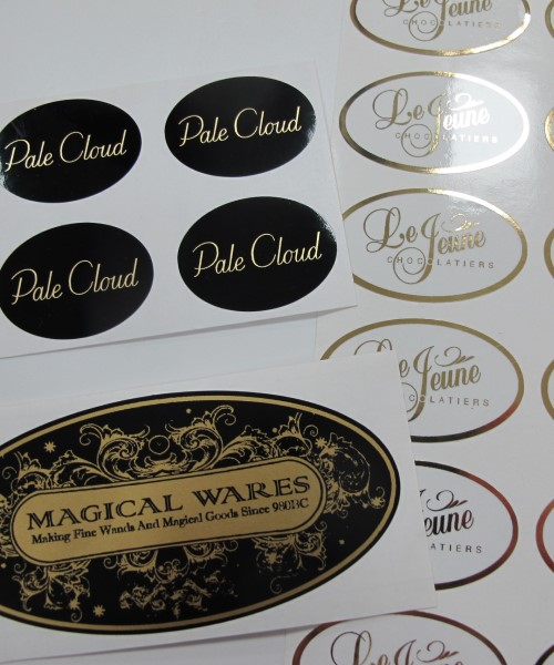 metallic printed stickers