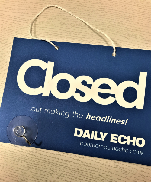 Custom open and closed sign