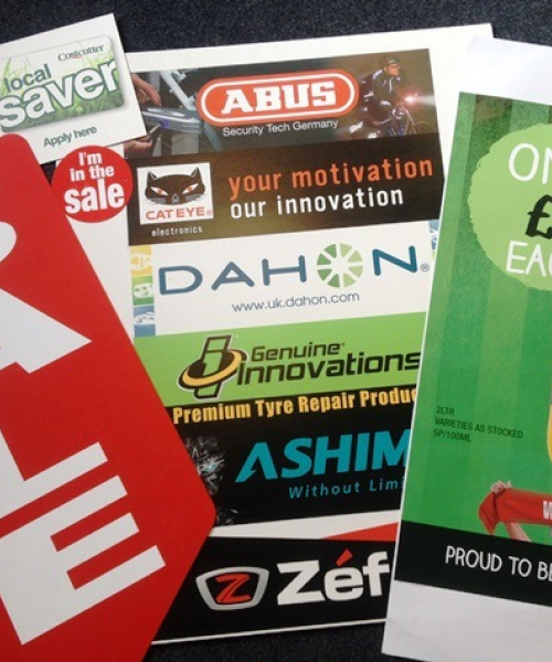 Printed Point of sale window posters