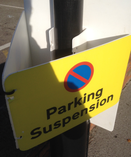 Temporary parking notices