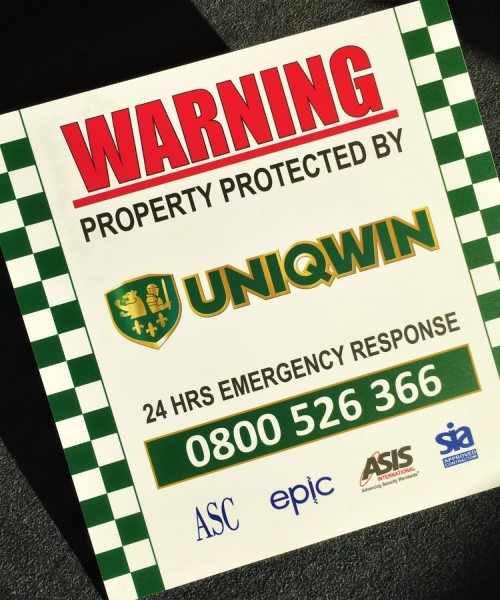 Warning Sign and site security board Printing