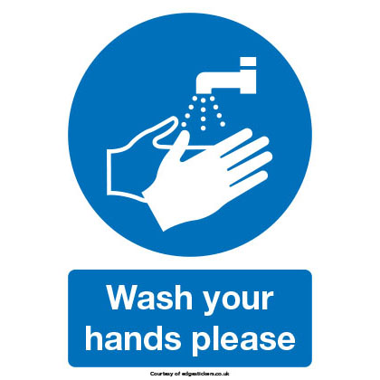 Hand Wash Stickers