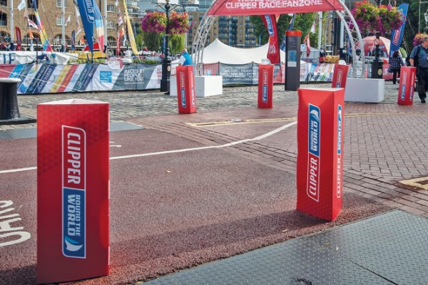 recyclable Bollard Covers clipper yacht race 2