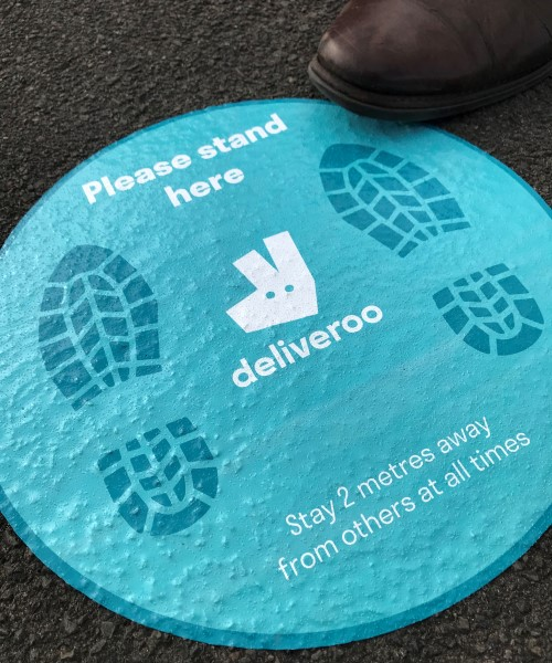 Outdoor pavement stickers