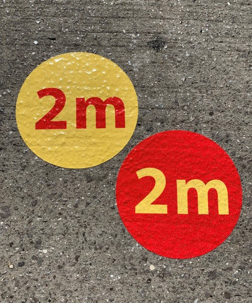 2m floor dots, 200mm circular floor stickers