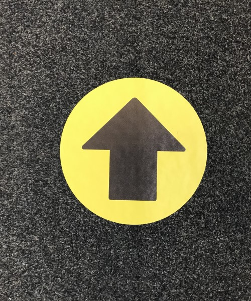 One way system arrow floor stickers for carpet