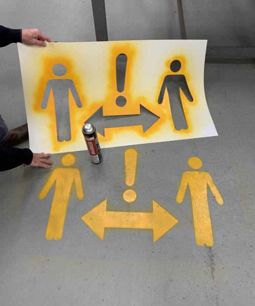 1 metre+ and 2m Social Distancing Stencils