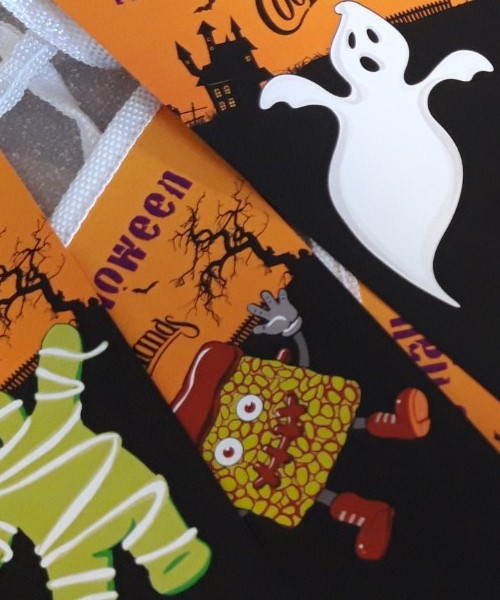 Halloween Bunting and Point of sale ideas