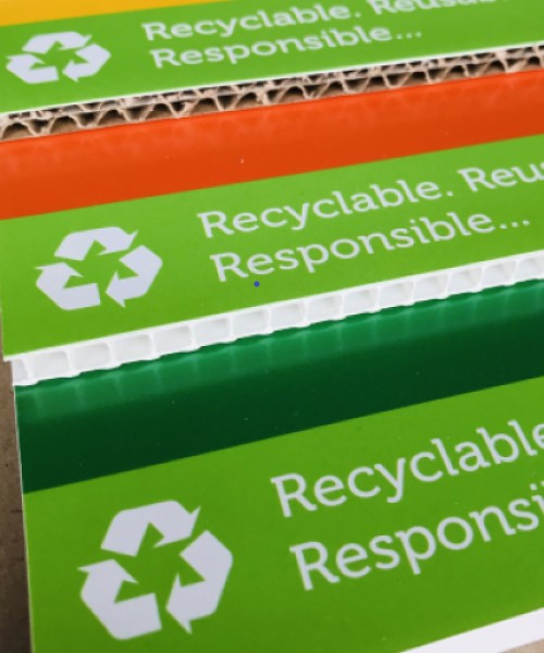 Recyclable, reusable and responsible print uk
