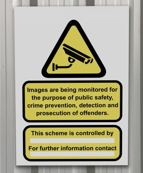 Do you have to display a sign for CCTV?