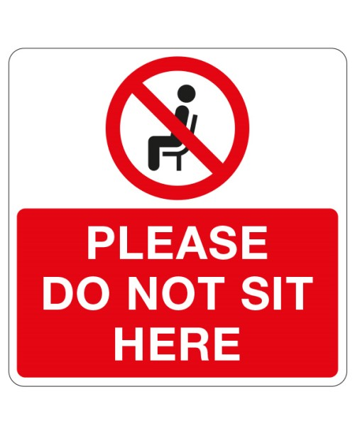 Square do not sit here stickers for social distancing seating