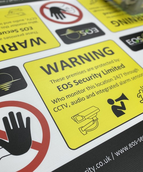 Correx security signs and outdoor warning board signs