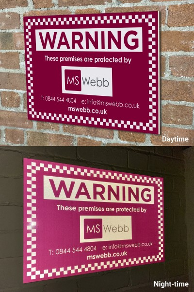 Reflective security site boards