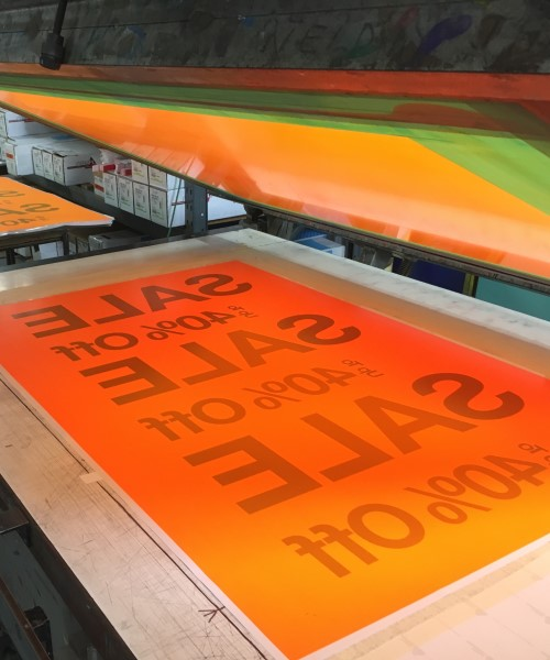 Day glo fluorescent printing