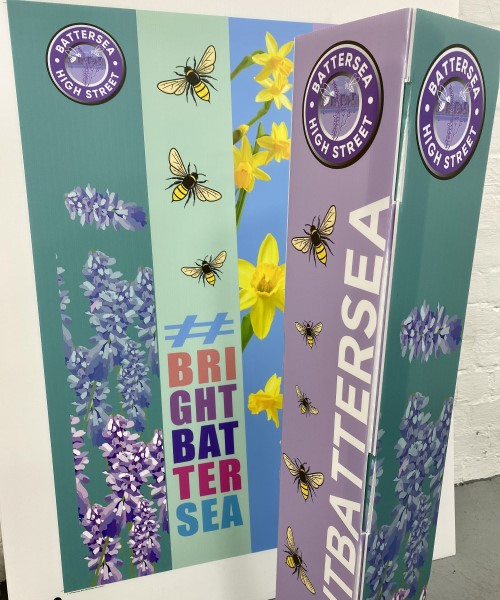 Bollard Covers printed on Correx for outdoor use